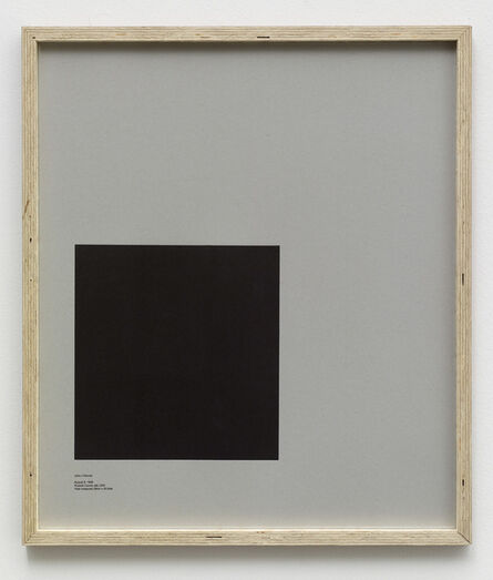 E.B. Itso, 'Loop Holes (John J. Warner, August 8. 1968, Russel County Jail, USA, hole measures 29 x 30.5 cm)', 2014