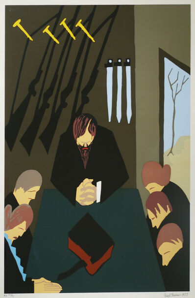 Jacob Lawrence, 'No. 2 (For 40 Years John Brown Reflected on the Hopless and Miserable Condition of the Slaves)', 1977