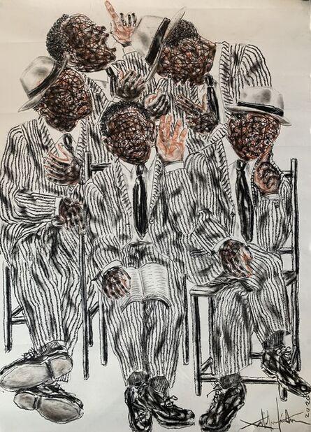 Salifou Lindou, 'Politiciens #4', 2020