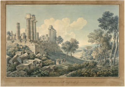 Louis-François Cassas, 'Vue d'une partie des ruines du temple de Junon … Agrigente', 1801