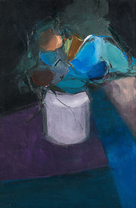 Donald Hamilton Fraser, 'Table with Blue Flowers', 1957