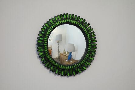 "Line Vautrin, 'Green ""Gerbera"" mirror', ca. 1955"