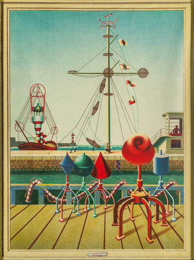 Edward Wadsworth, 'Signals [Greenwood W/C 43; Garton 531]', 1942