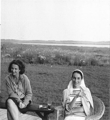John Jonas Gruen, 'Jane Freilicher and Jane Wilson, Water Mill, New York', 1962