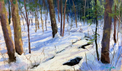 Takeyce Walter, 'Day 2: Snow Covered Stream ', February 2020
