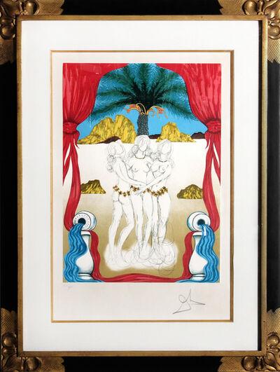Salvador Dalí, 'Three Graces of Hawaii (Tarot: Three of Cups)', 1979
