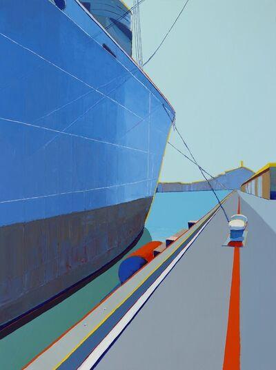 Timothy Mulligan, 'Large Ship Overlooking Wharf, SF', 2019