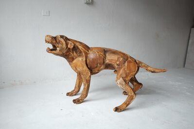 Sophie Dickens, '11. Life size Rottweiler II. Wooden original, to be cast in bronze', 2017