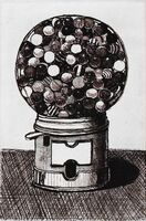 Wayne Thiebaud, 'Dark Gumball Machine', 2017