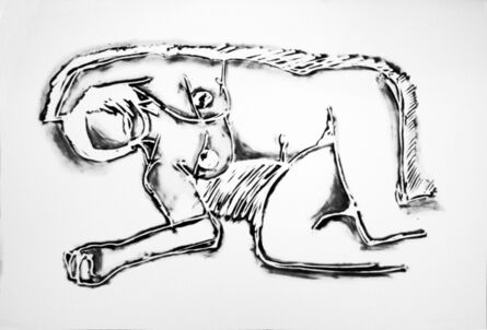 Tom Wesselmann, 'MONICA LYING ON HER SIDE, WITH SCRIBBLE', 1994