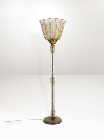 Barovier & Toso, 'A floor lamp with a metal structure', 1940 ca.