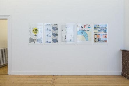 """Adrien Tirtiaux, '""""Alles fliegt Ford"""",""""La Reine des Ruines"""", """"MONUMENTALE ACADEMIE"""", """"L'Aventure dans la savane"""", """"Approcher la ligne claire""""', 1988-2018"""