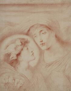 Simeon Solomon, 'Night Looking upon Sleep her Beloved Child', 1895