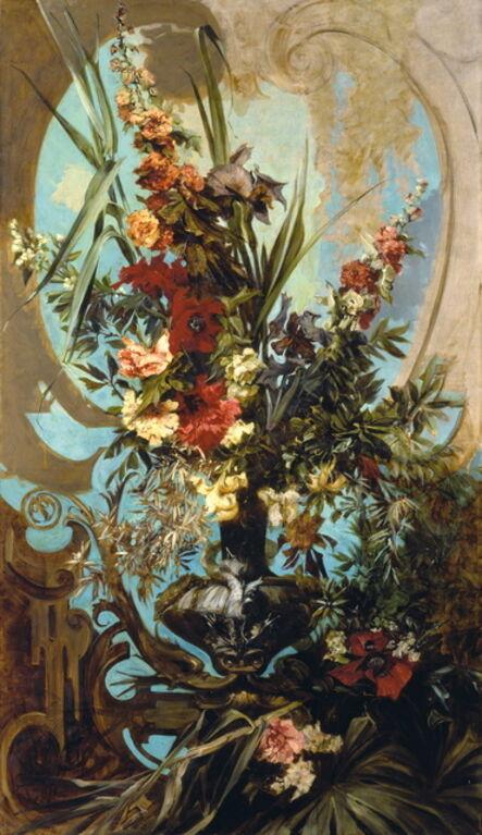 Hans Makart, 'Decorative Flower Bouquet', 1884