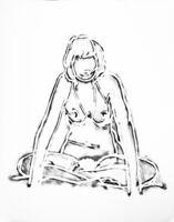 Tom Wesselmann, 'MONICA SITTING CROSS-LEGGED', 1990