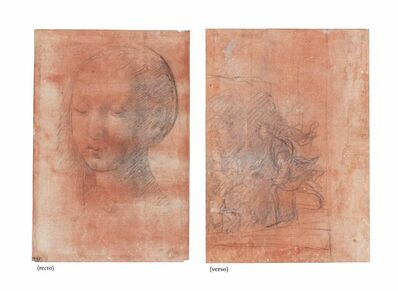 'The Study of a head of a young girl (recto), Christ descending into Limbo (verso)'
