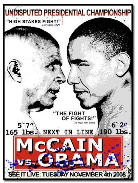 Mr. Brainwash, 'McCain vs. Obama', 2008