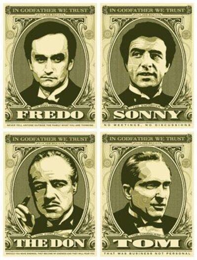 Shepard Fairey, 'In godfather we trust ( set of 4)', 2006