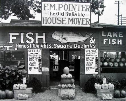 Walker Evans, 'Fish Market Near Birmingham, Alabama', 1971