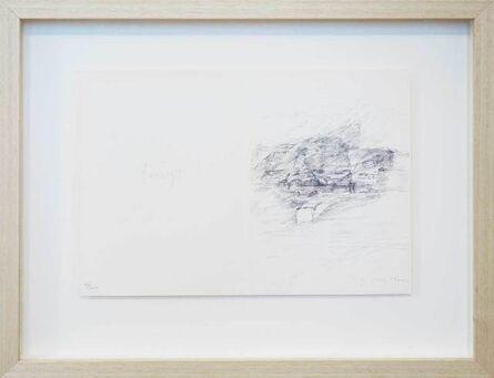 """Joseph Beuys, 'Zeichnungen zu 'Codices Madrid' von Leonardo da Vinci: """"Weg zum Moor""""', 1975"""