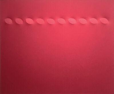 Turi Simeti, '10 ovali rossi', 2019