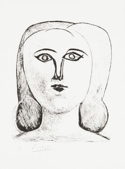 Pablo Picasso, 'Head of a Young Girl', 1946