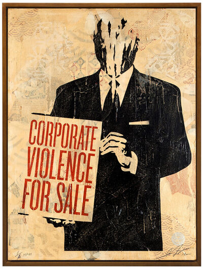 Shepard Fairey, 'Corporate Violence For Sale', 2012