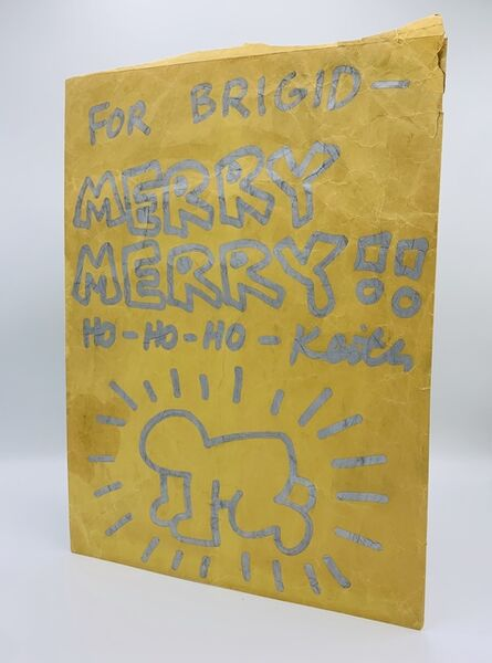 Keith Haring, 'Untitled (Merry Christmas   Radiant Baby)', ca. 1984