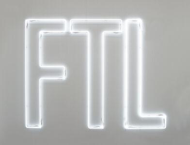 Maurizio Nannucci, 'FASTER THAN LIGHT', 2006
