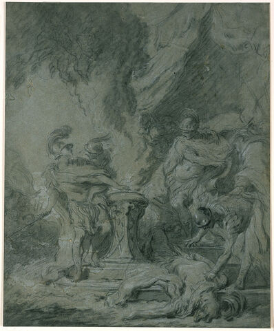 François Boucher, 'Mucius Scaevola Putting His Hand in the Fire', 1726