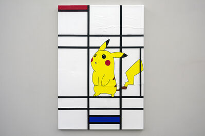Michael Pybus, 'Composition - White, Red, Pikachu and Blue', 2018