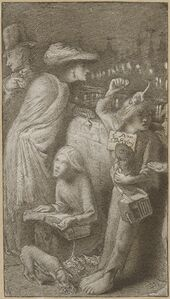 Simeon Solomon, 'I Am Starving', 1857