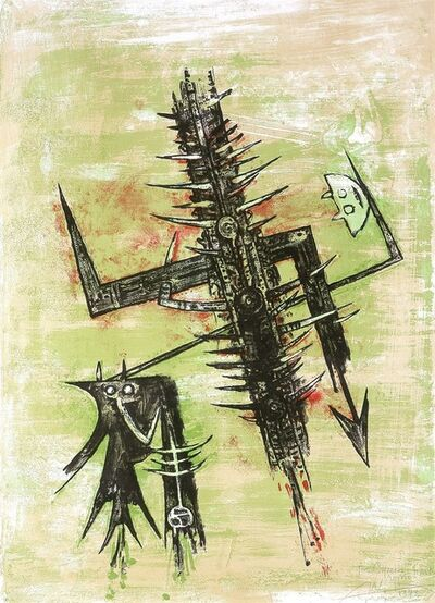 Wifredo Lam, 'Hommage à Picasso [Homage to Picasso]', 1973