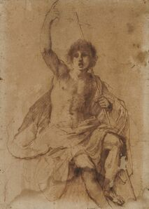 Guercino, 'Study for St. John the Baptist'