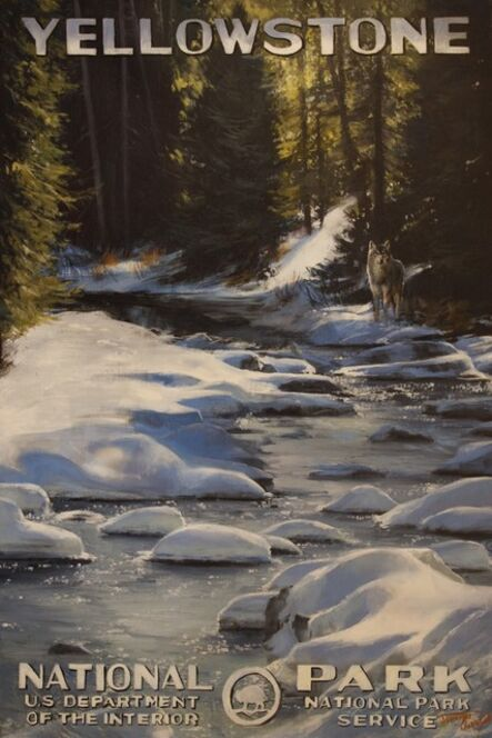 Jennifer Johnson, 'Yellowstone National Park - Into The Shadows', 2020