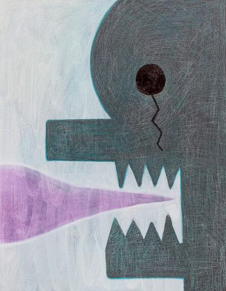 Alex Gene Morrison, 'Blue Head (Purple Speak Black Scar)', 2018