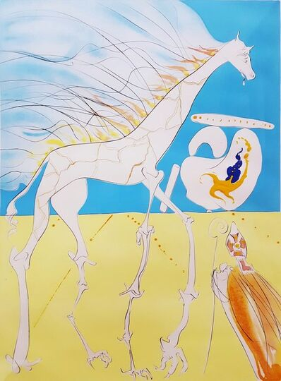 Salvador Dalí, 'Girafe Saturnienne (Saturnian Giraffe)', 1974