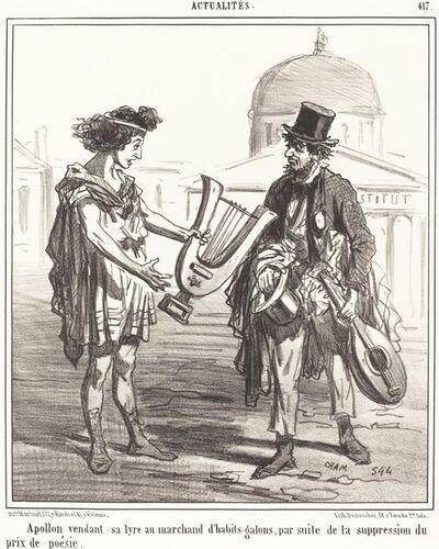 Amédée Charles Henri Cham, 'Apollon vendant sa lyre'