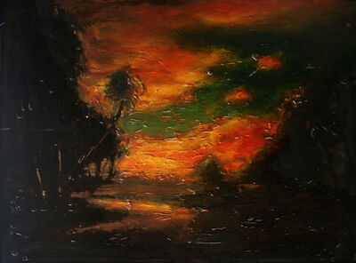 David Bierk, 'Landscape at Sunset, after William Keith', 1993
