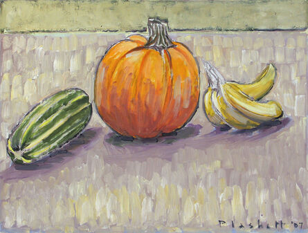 Joseph Plaskett, 'Pumpkin, Marrow & Bananas'