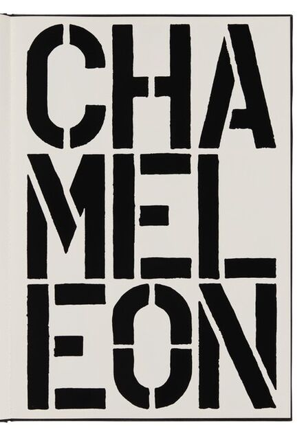 Christopher Wool, 'Chameleon (page from Black Book) ', 1989