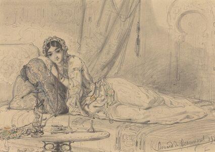 "Edouard de Beaumont, '""Oriental"" Reclining Female', 1844"