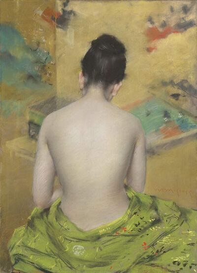 William Merritt Chase, 'Study of Flesh Color and Gold', 1888