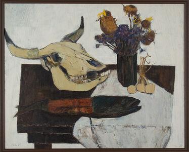 Koichiro Wakamatsu 若松 光一郎, 'Still Life of a Skull (Zugaikotsu no aru seibutsu)', 1955