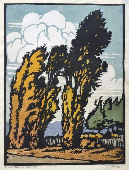 William S. Rice, '           WIND BLOWN POPLARS ', ca. 1915