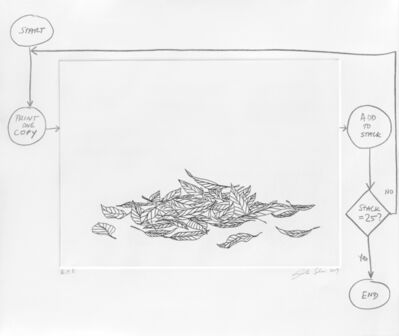 Analía Saban, 'Flowchart (Leaves)', 2020
