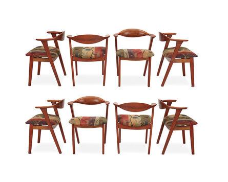 Erik Kirkegaard, 'Eight Erik Kirkegaard modern teak side chairs, for Hong Stolefabrik'