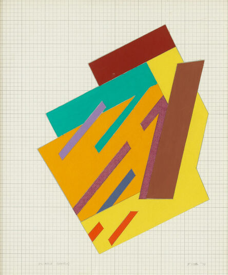 Frank Stella, 'Glinne (Sketch)', 1973