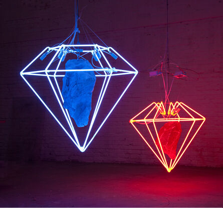 Zhou Wendou, 'Diamond Dreams 1-Red & 2-Blue', 2010