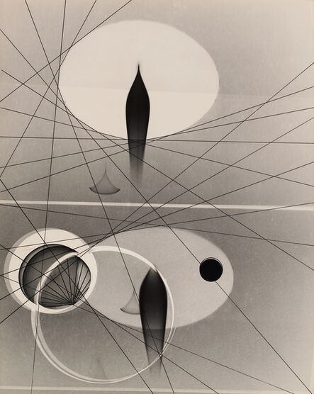 György Kepes, 'Untitled (Abstract, ovals, crossing lines)', 1940